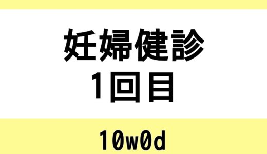 【妊婦健診1回目 / 10w0d】血液検査と体重管理