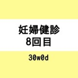 【妊婦健診8回目 / 30w0d】採血、内診を当日知る
