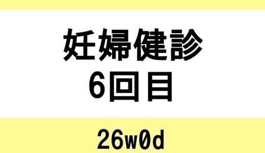 【妊婦健診6回目 / 26w0d】帰省、旅行後の健診