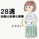 【妊娠28週】胎動が大きく感じる