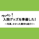陣痛・出産入院用グッズ紹介!~総額1万円かかった~