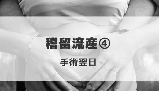 【体験談】稽留流産④  ~手術翌日~