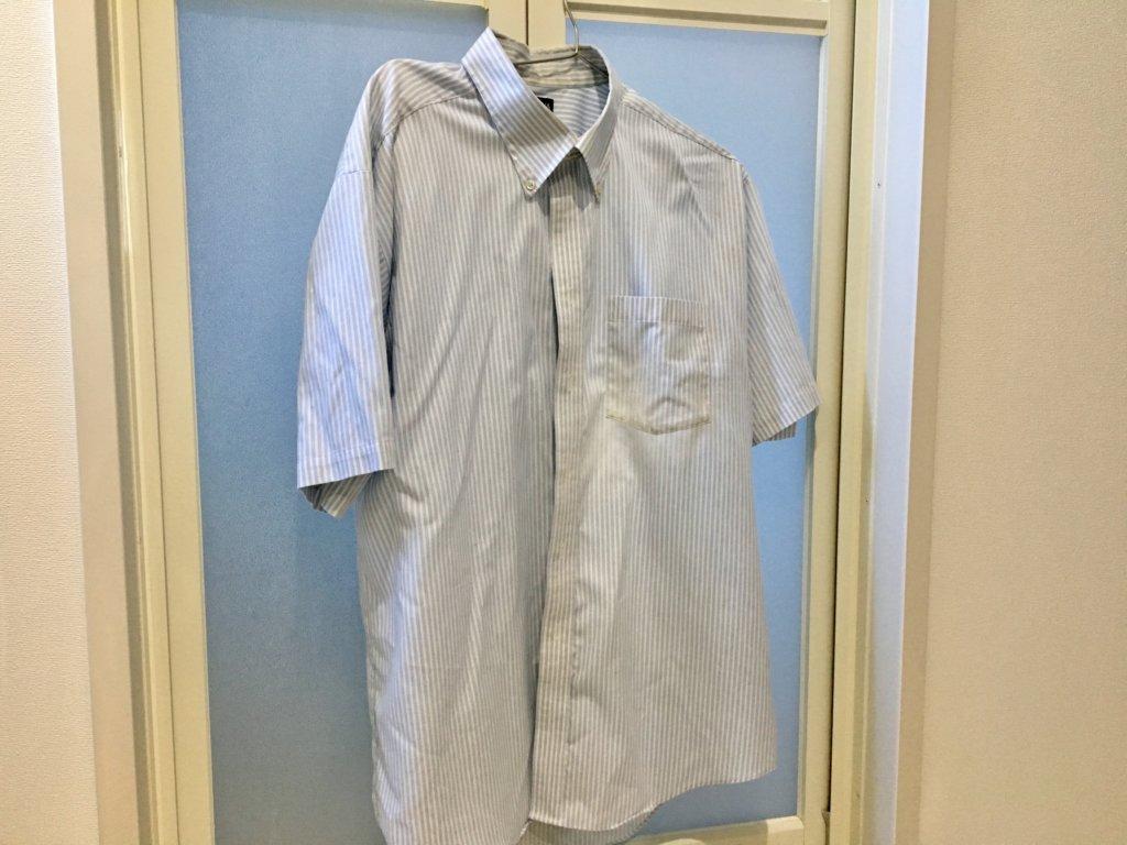 日立の洗濯乾燥機BD–SG100ELで乾燥したワイシャツ