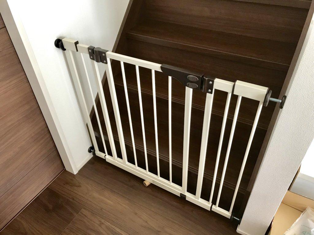 日本育児 ダブルロックゲートワイド 設置後